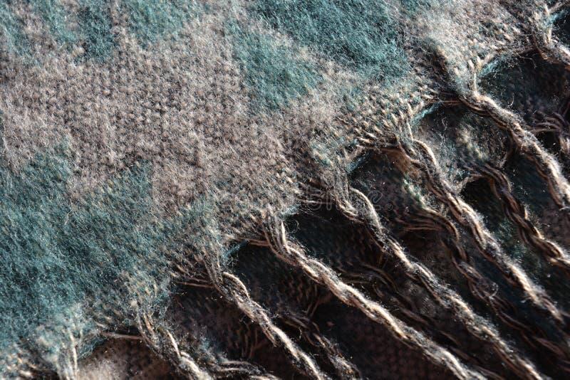 Écharpe de laine de Pashmina, texture abstraite des fils de laine images libres de droits