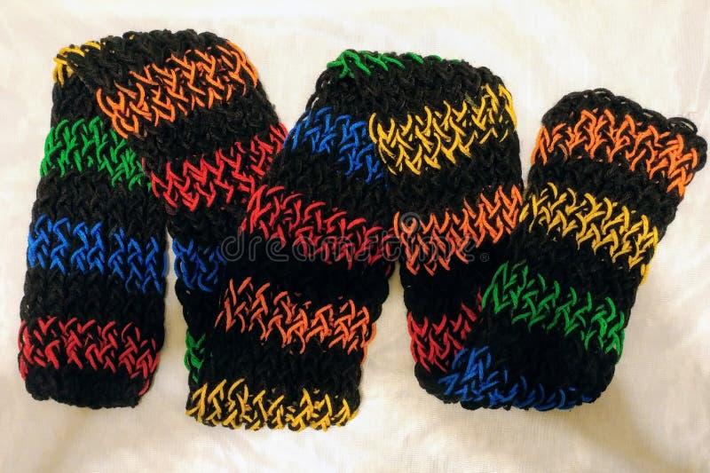Écharpe tricotée images stock