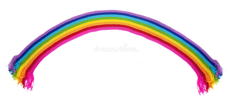 Charpe tricot e par arc en ciel lumineux photo stock - Image arc en ciel gratuite ...