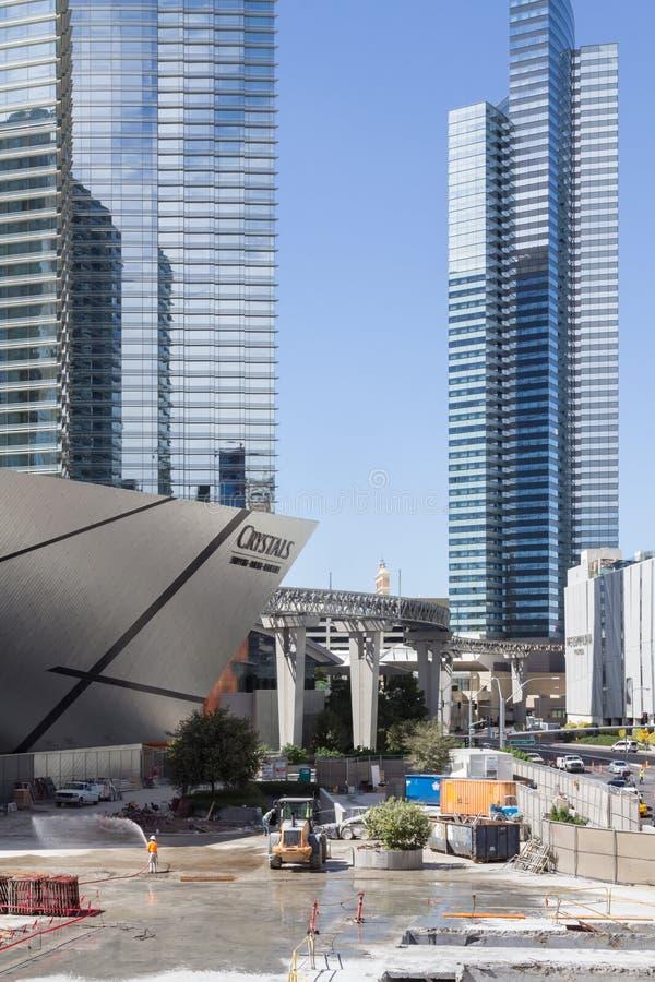 Échec de construction à Las Vegas images libres de droits