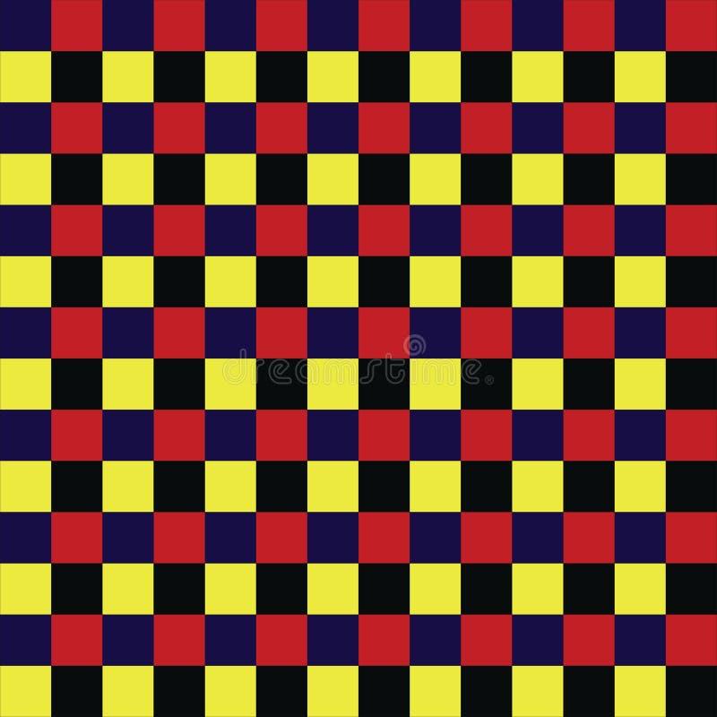 Échecs carrés colorés illustration de vecteur