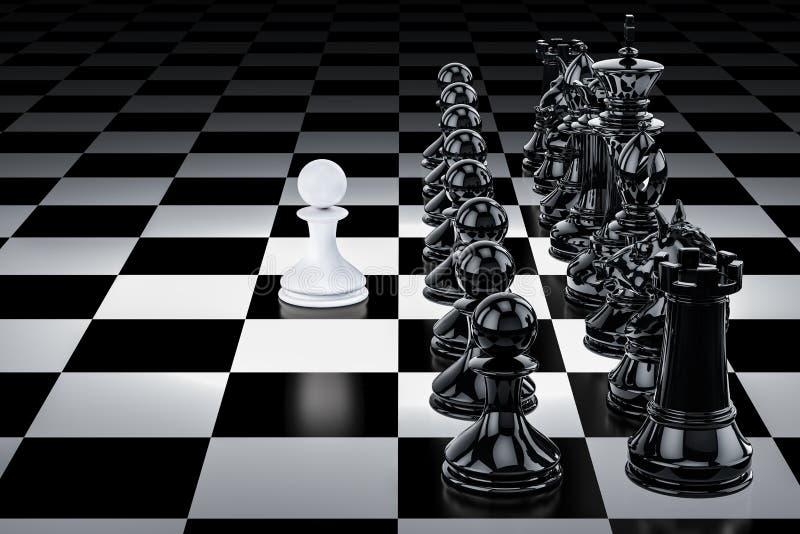 Échecs, concept de confrontation 3d illustration de vecteur