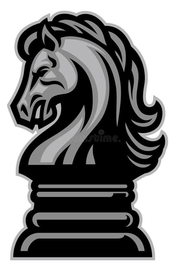 Échecs de cheval de chevalier illustration de vecteur