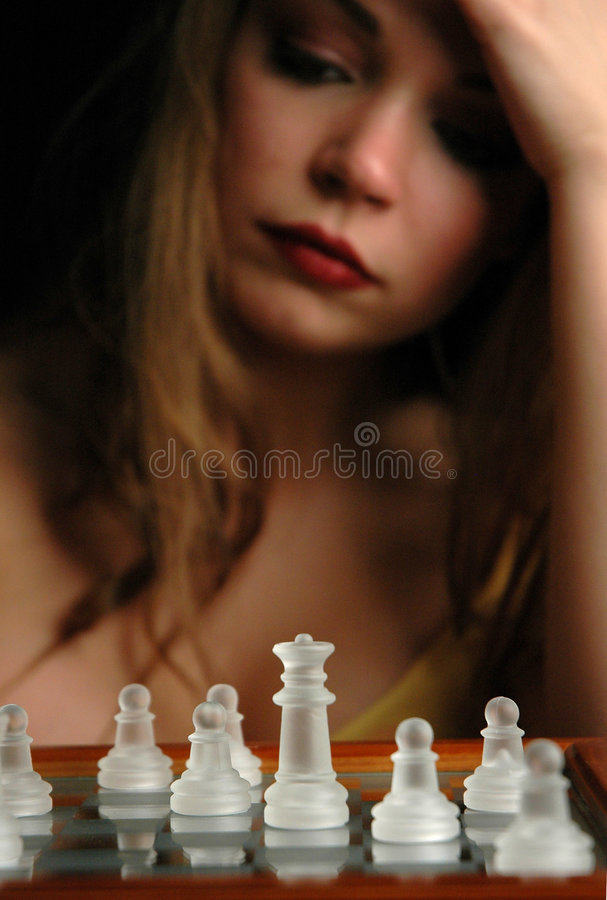 Download Échecs pieces-10 photo stock. Image du sexy, détruisez, fille - 91196