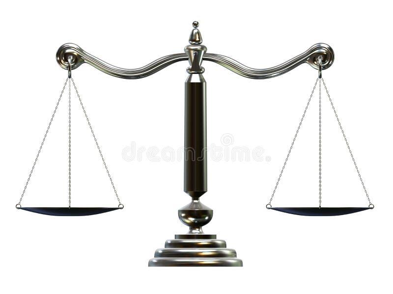 Échelle argentée illustration libre de droits