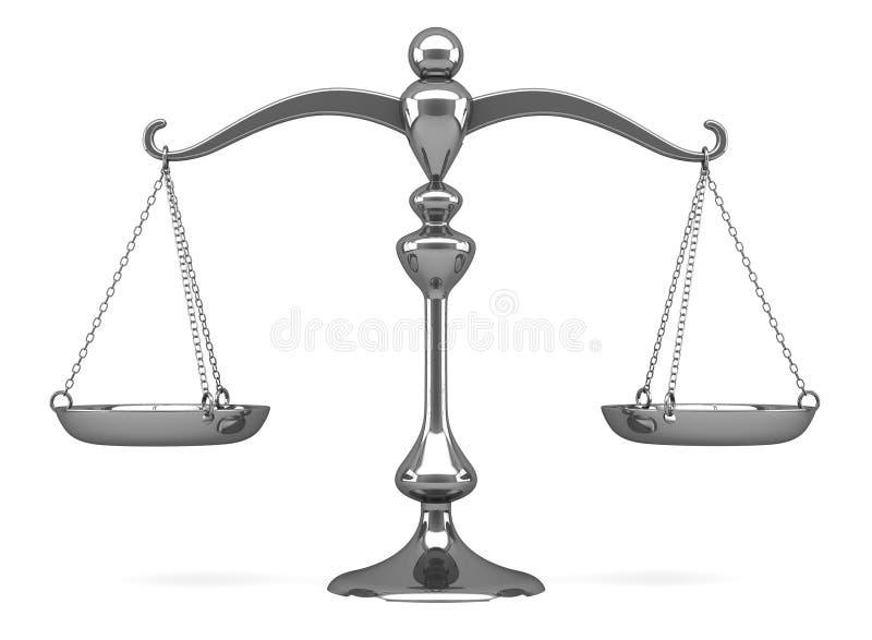 Échelle argentée illustration stock