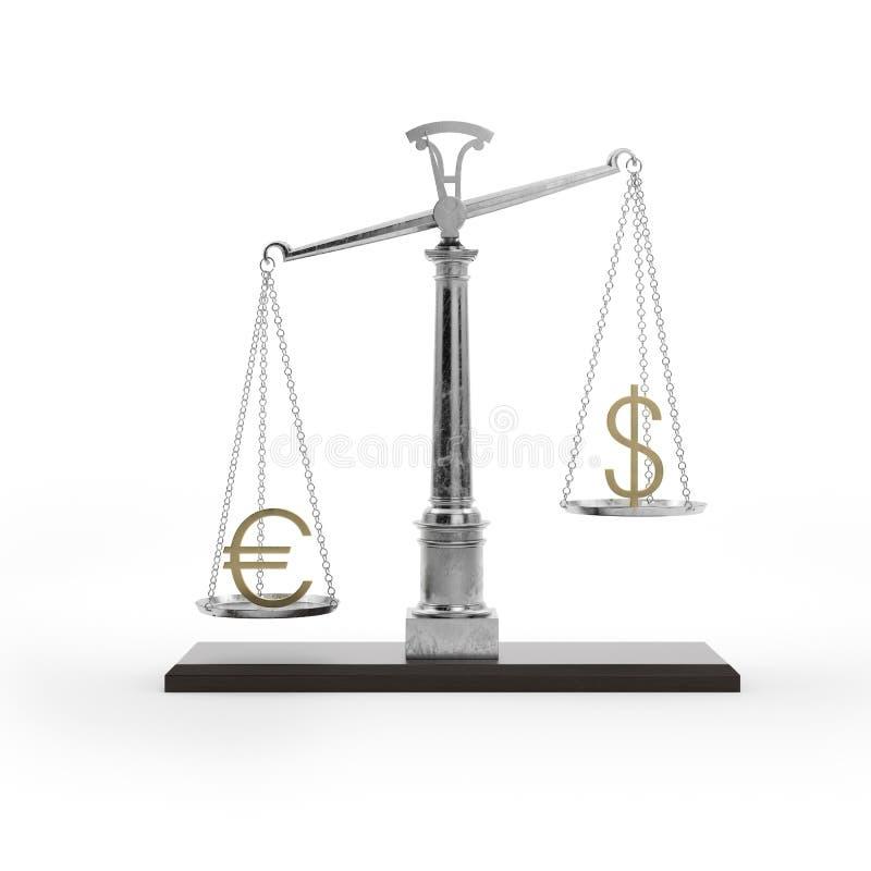 Échelle avec des symboles des devises illustration de vecteur