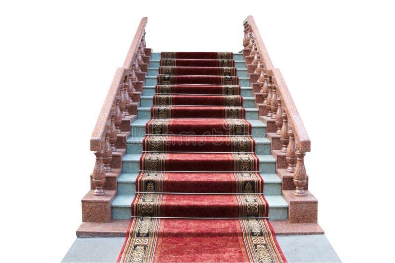 Échelle avec du tapis rouge photos stock