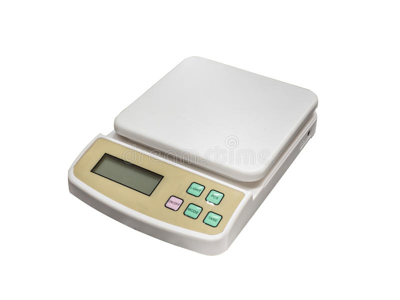 Échelle compacte électronique image stock