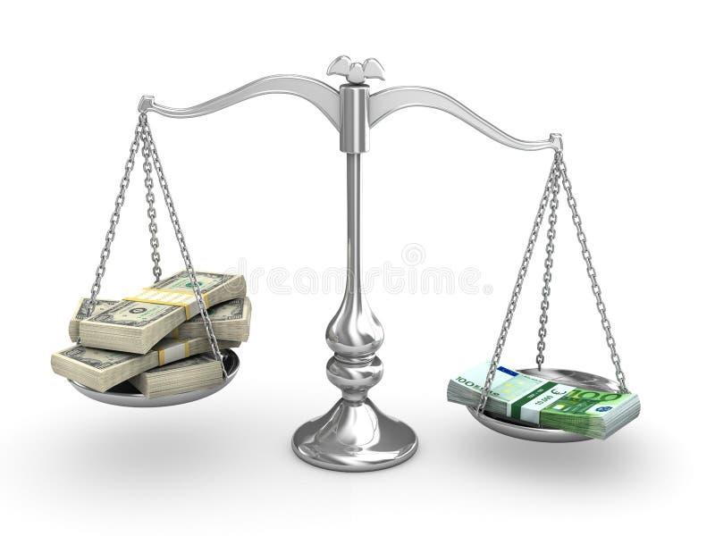 échelle d'équilibre illustration de vecteur