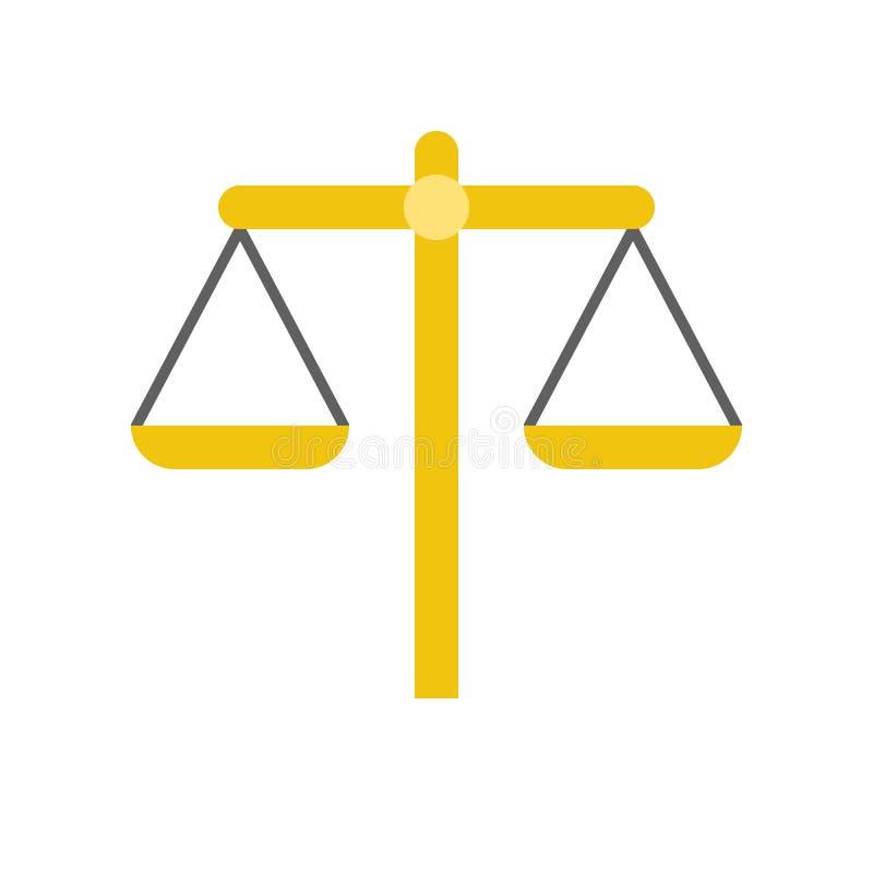 Échelle d'équilibre, loi et icône de vecteur de justice illustration de vecteur