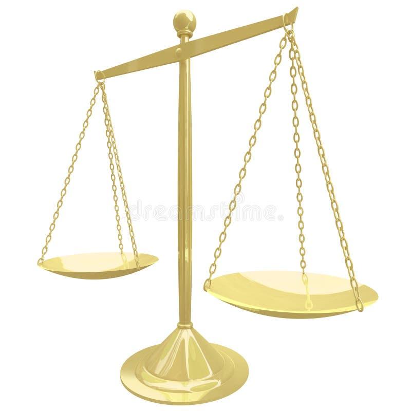 Échelle d'or - équilibre parfait illustration stock