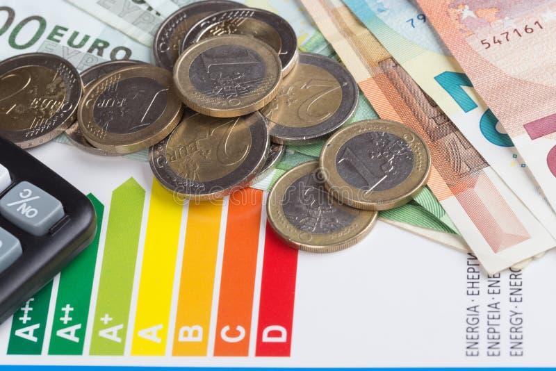 Échelle d'évaluation de rendement énergétique photographie stock libre de droits