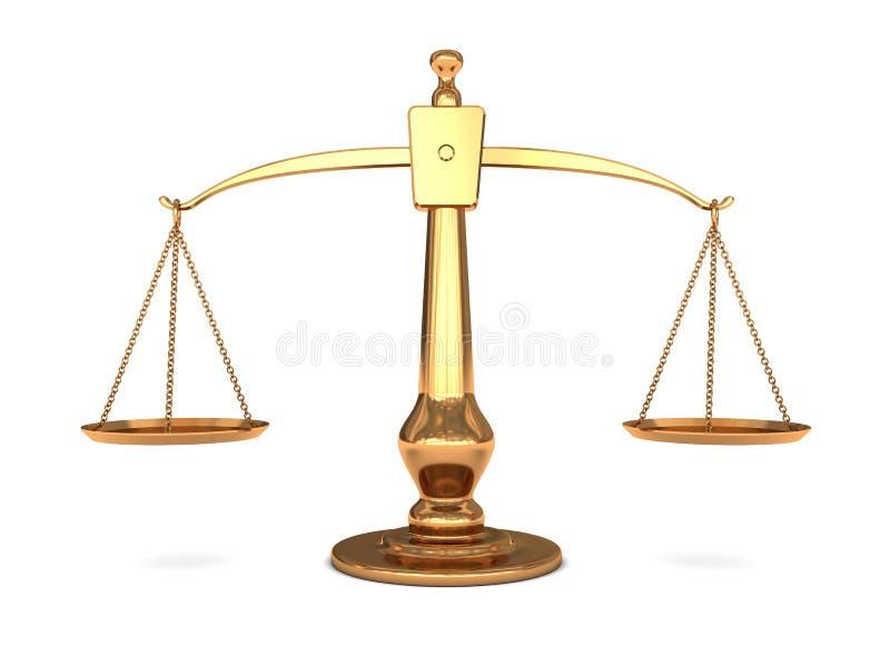 Échelle d'or illustration libre de droits