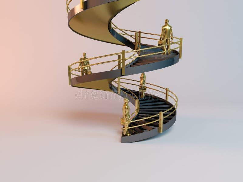 Échelle 3D d'entreprise illustration libre de droits