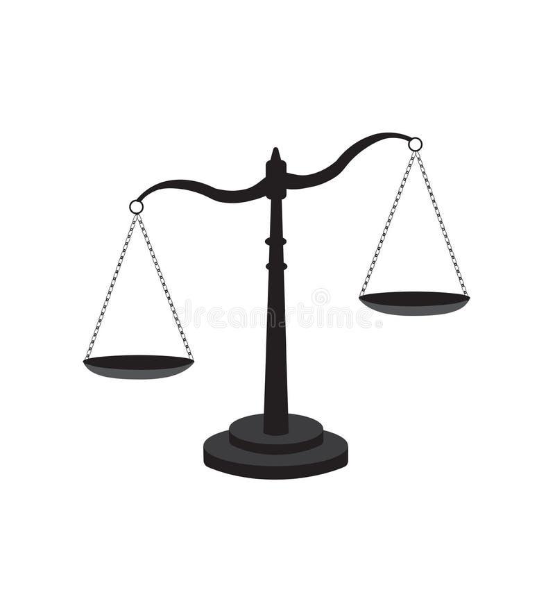 Échelle d'icône de justice illustration libre de droits