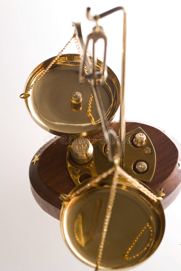 Échelle de bijoutier image stock