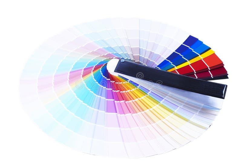 Échelle de couleurs d'impression photos stock