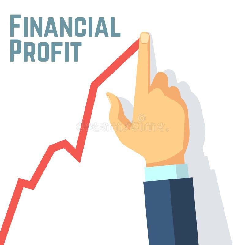 Échelle de croissance de dessin de doigt Bénéfice financier et investissement du concept de vecteur d'affaires illustration de vecteur