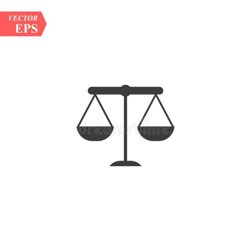 Échelle de justice, loi, vecteur Logo Template d'icône de mandataires illustration libre de droits