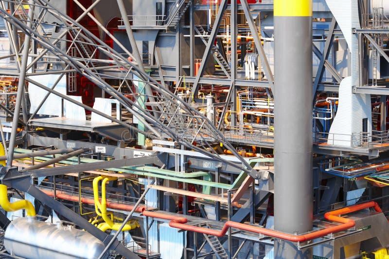 Échelle de modèle de plate-forme de pétrole et de gaz Industrie énergétique pétrole photos libres de droits