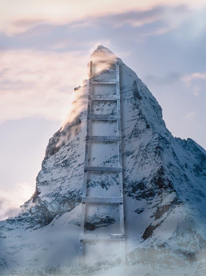 Échelle de montagne photo libre de droits