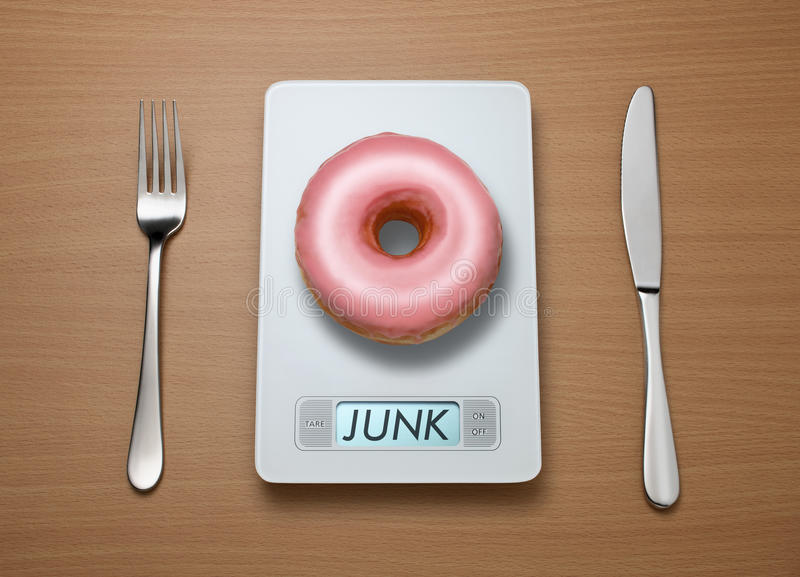 Échelle de poids de nourriture industrielle photographie stock libre de droits