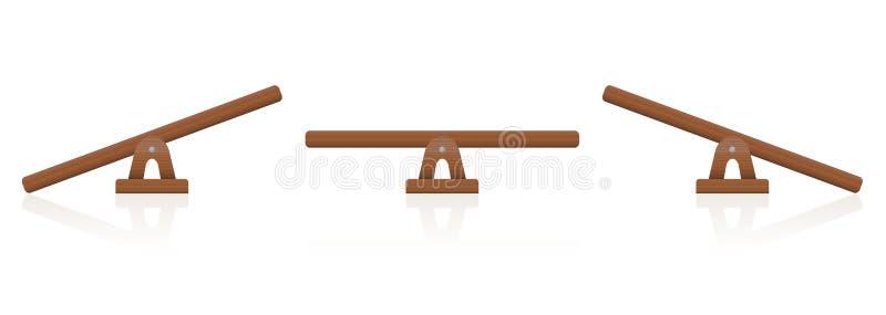 Échelle en bois d'équilibre de bascule illustration de vecteur
