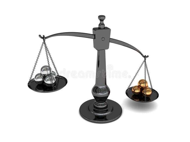 échelle en métal de billes illustration libre de droits