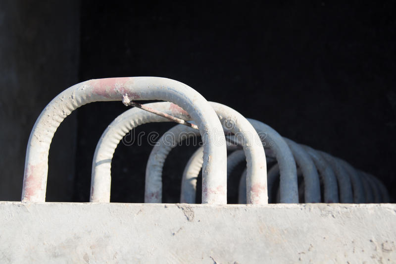 Échelle fixe en construction photos stock
