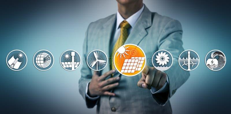 Échelle industrielle de sélection exécutive picovolte solaire image stock
