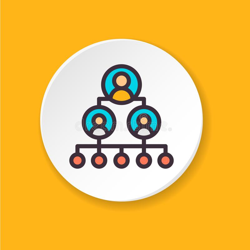 Échelle plate de carrière d'icône de vecteur Bouton pour le Web ou l'APP mobile illustration stock