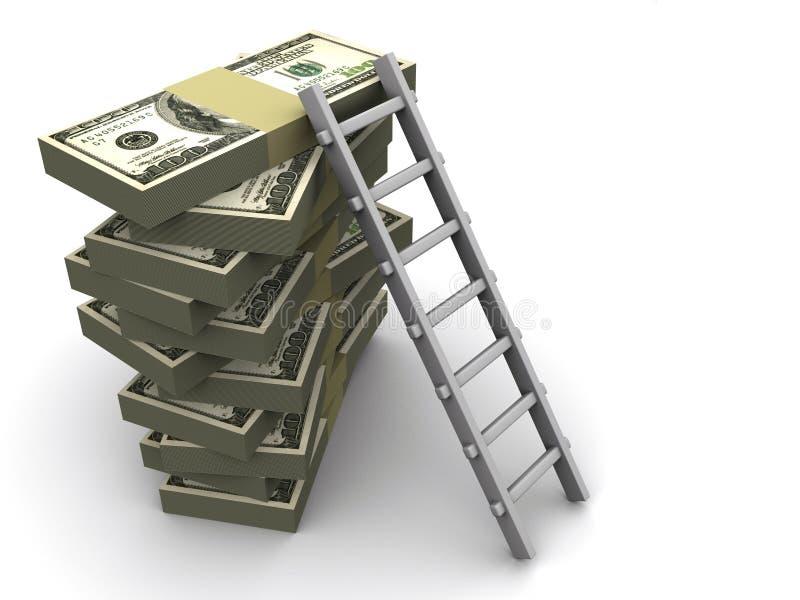 Échelle sur l'argent illustration stock