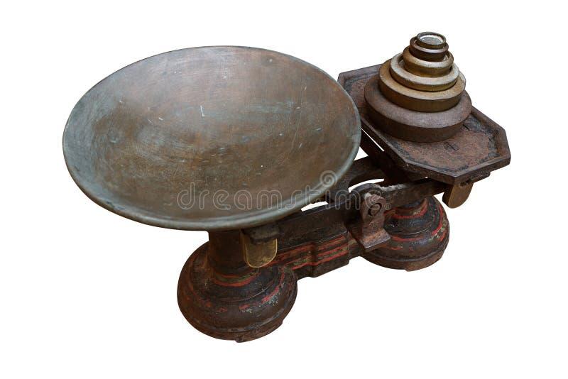 Échelles antiques en métal photos stock
