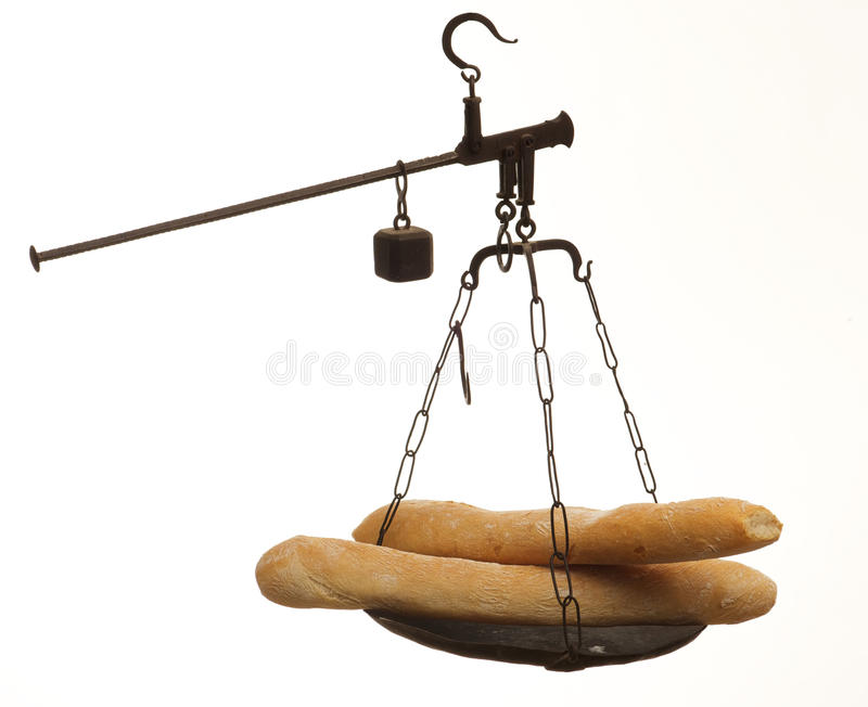 Échelles avec du pain image stock