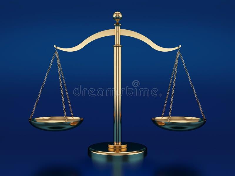 Échelles d'or illustration libre de droits