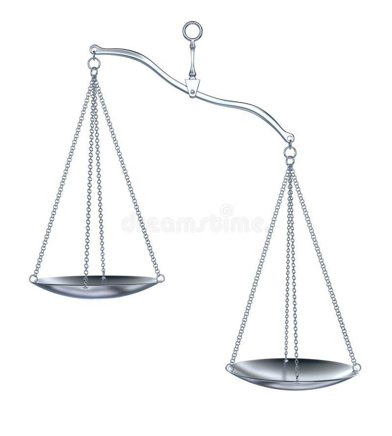 Échelles d'argent illustration libre de droits
