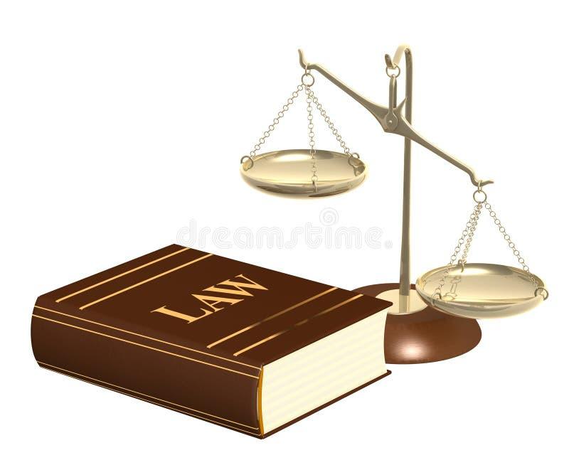 Échelles d'or et code des lois illustration stock