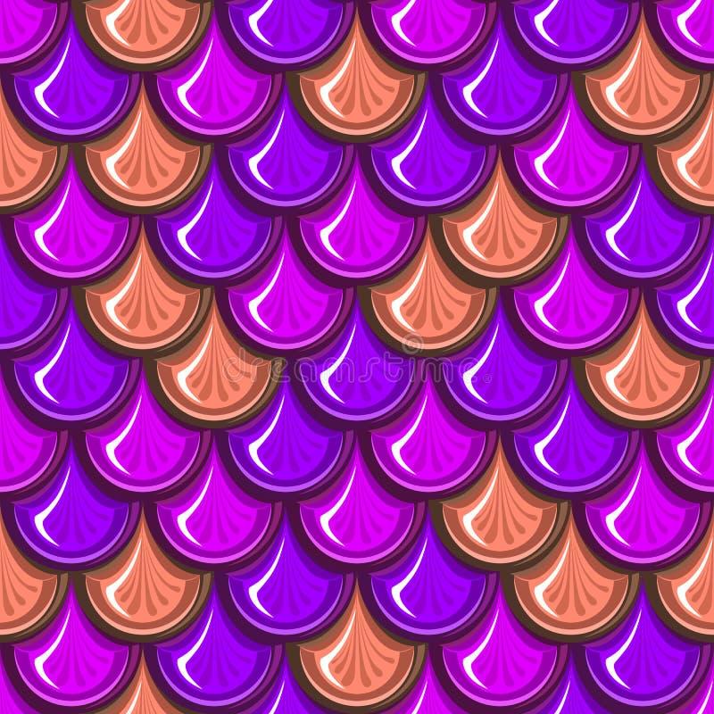 Échelles de poissons colorées sans couture de rivière illustration libre de droits