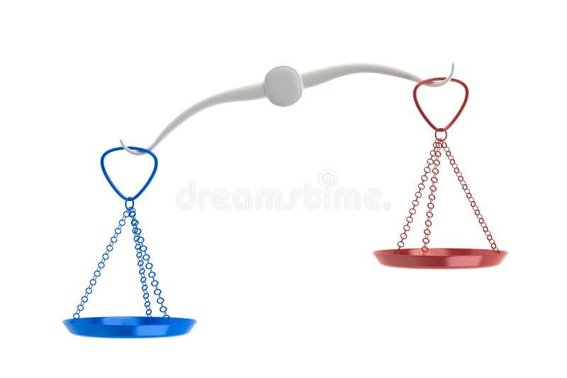 Échelles non équilibrées illustration de vecteur