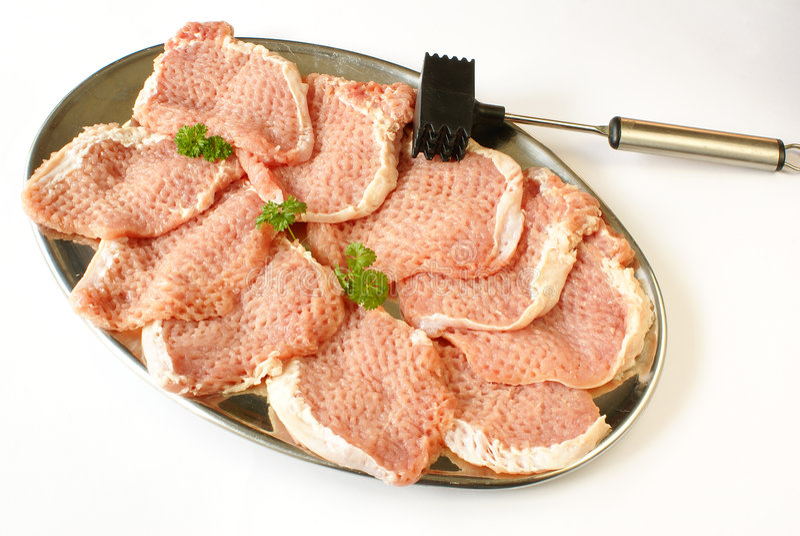 Échine de porc crue images stock
