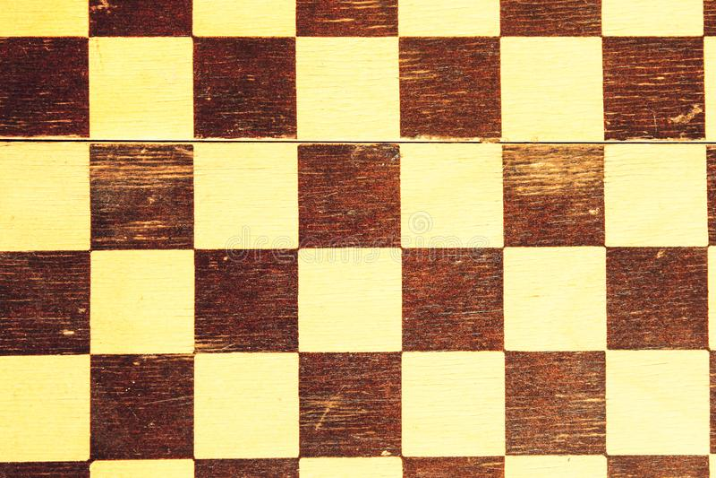 Échiquier en bois de vieille de plaid place de cru image libre de droits