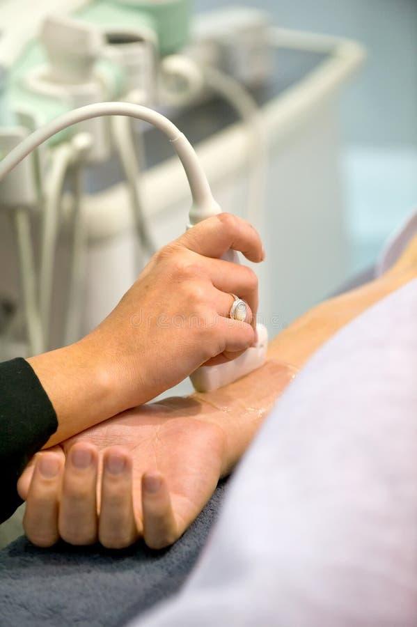 Échographie de gaine de tendon photo libre de droits
