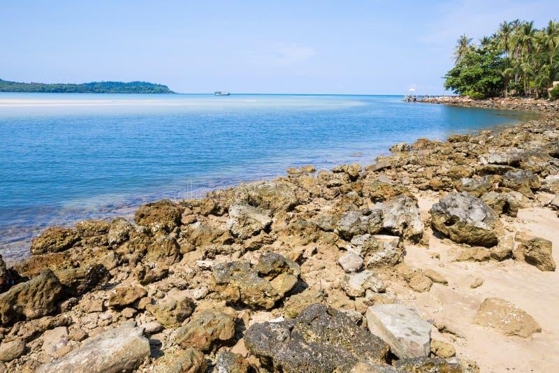 Échouez à l'île de kood de KOH, province de Trat, Thaïlande photos libres de droits