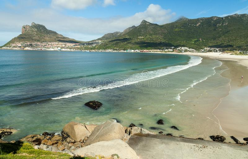 Échouez à la baie de Hout dans la province du Cap-Occidental de l'Afrique du Sud photos libres de droits