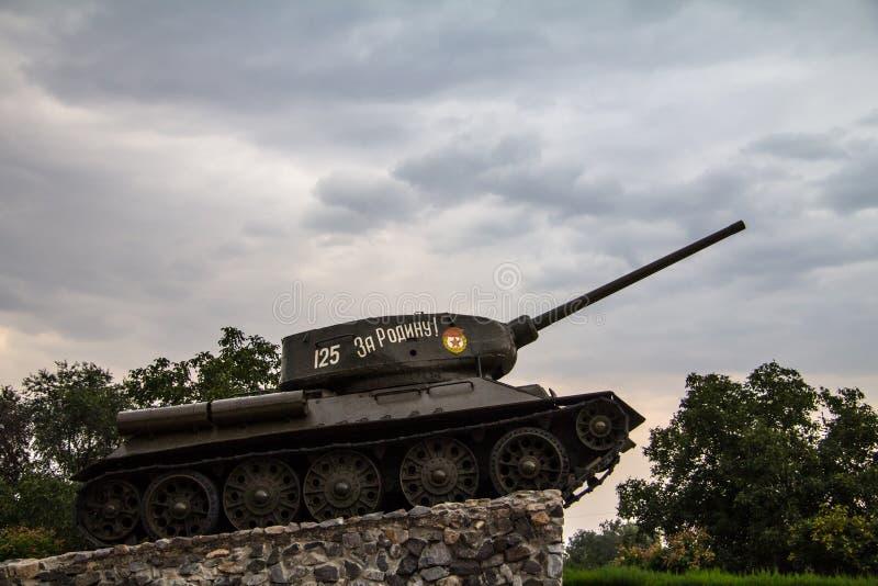 Échouez le monument érigé pour commémorer la guerre 1992 civile de Transnitria dans Tiraspol, capitale de la république détachée photographie stock