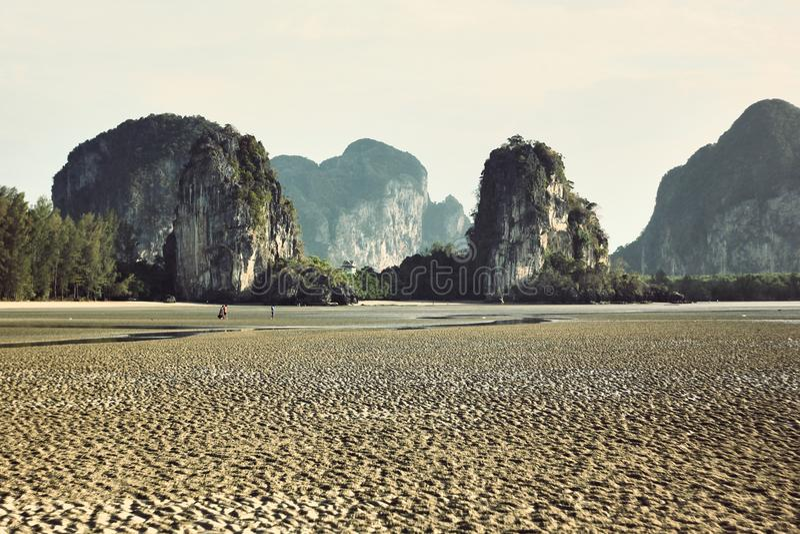 échouez le paysage de montagne, panorama, perspective, scène photographie stock libre de droits