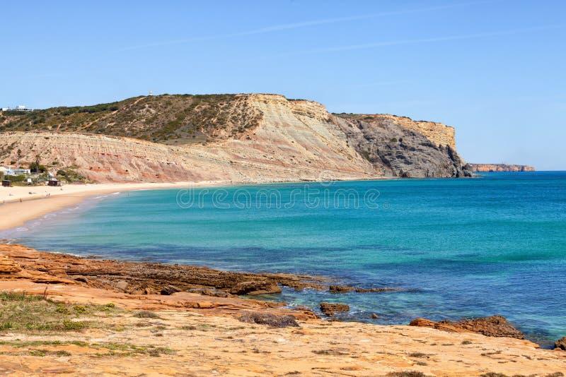 Échouez le Praia DA Luz près de Lagos, Algarve, Portugal photos libres de droits
