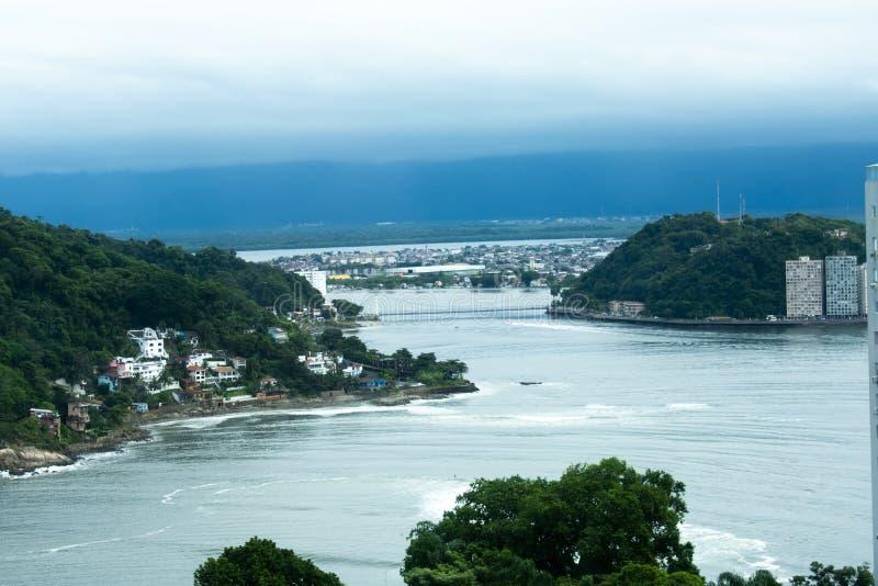 Échouez San Vicente dans l'état de são Paulo Brésil photo libre de droits