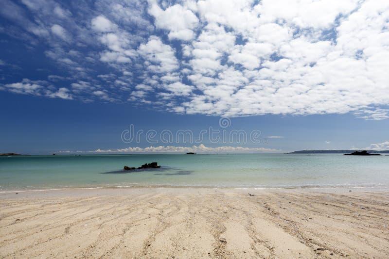Échouez sur l'île du Herm, R-U photos stock
